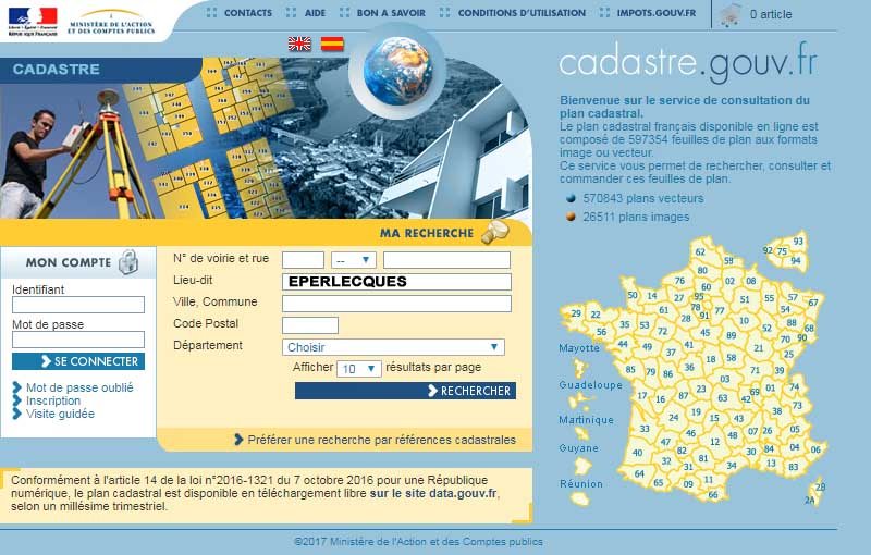 Cadastre eperlecques lacleweb