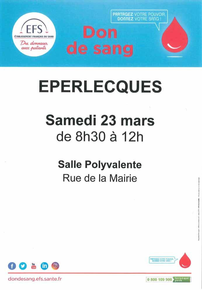 Don de sang eperlecques