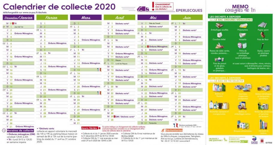 Eperlecques calendrier collecte 1