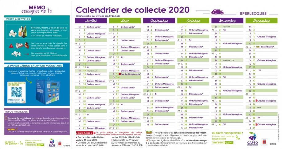 Eperlecques calendrier collecte 2