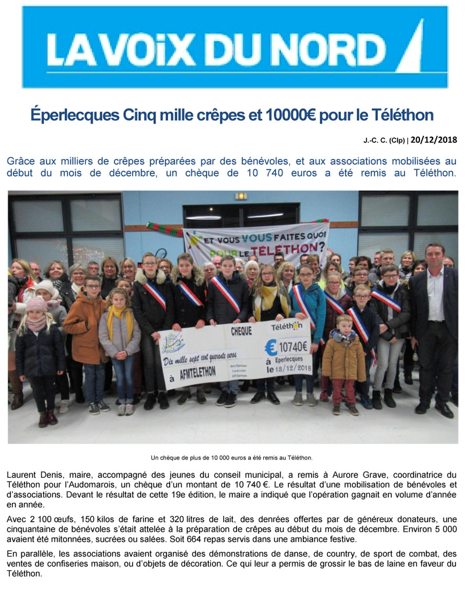 Eperlecques telethon 2018