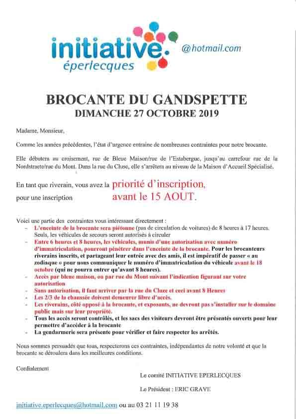 Inscriptions brocante 1