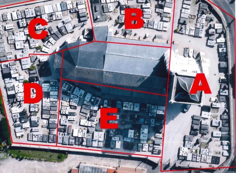 Plan du cimet par zone