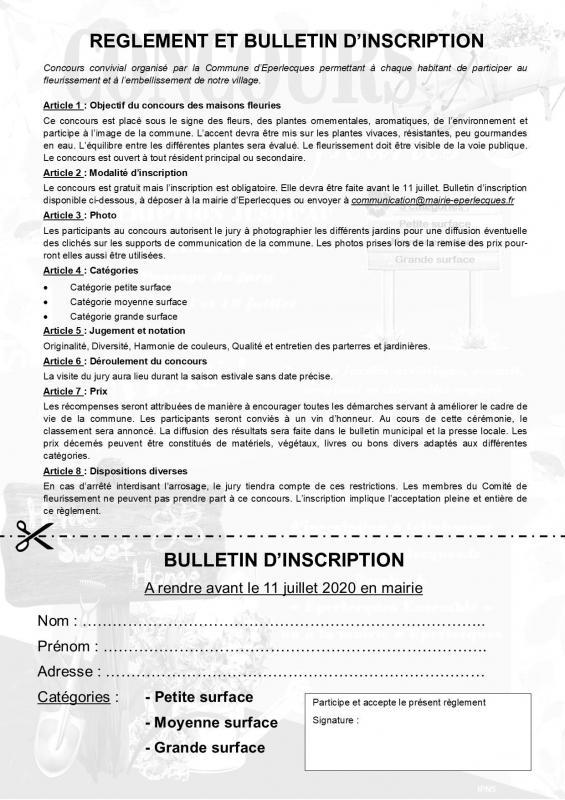 Reglement et bulletin 2