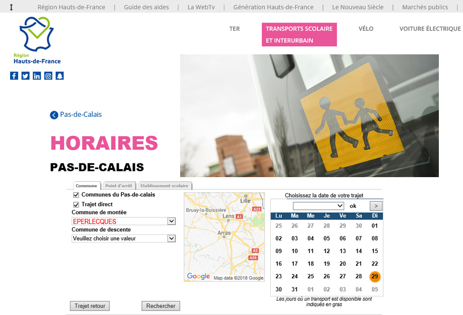 Reseau transport scolaire lacleweb